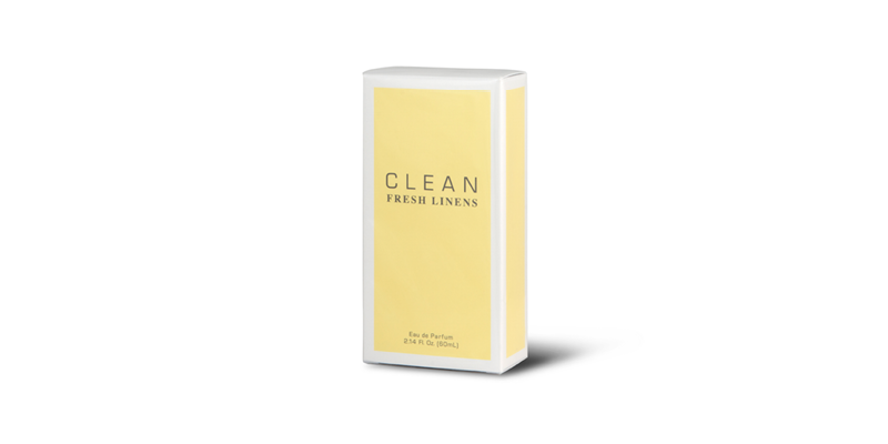 A yellow box with perfume