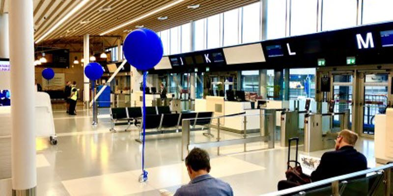 New part of the departure hall at Bromma Stockholm Airport