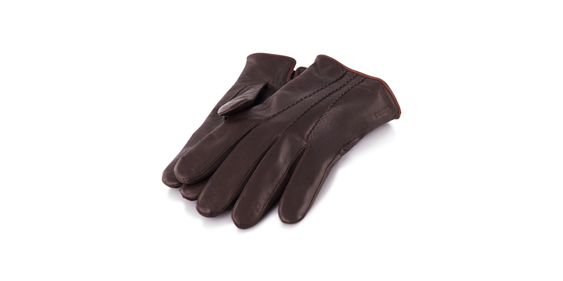 A pair of brown gloves