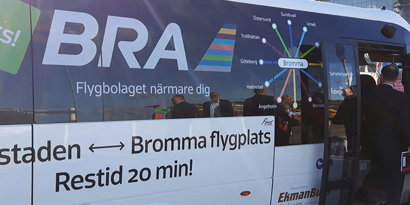 Airline Bra Launches Bus Service Between Bromma Stockholm