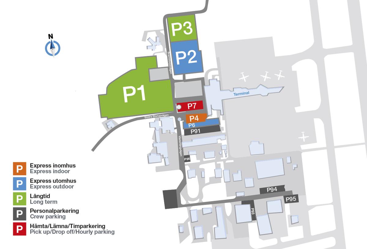Arlanda parkering karta parking malmö airport