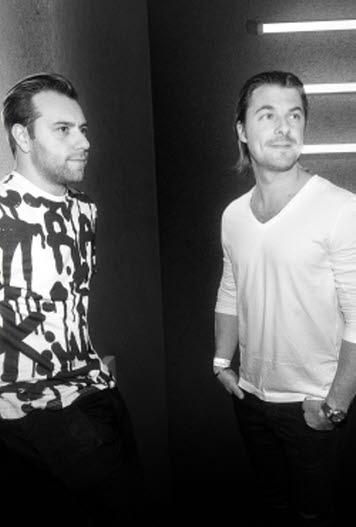 Sebastian Ingrosso and Axel Hedfors DJs and music producers