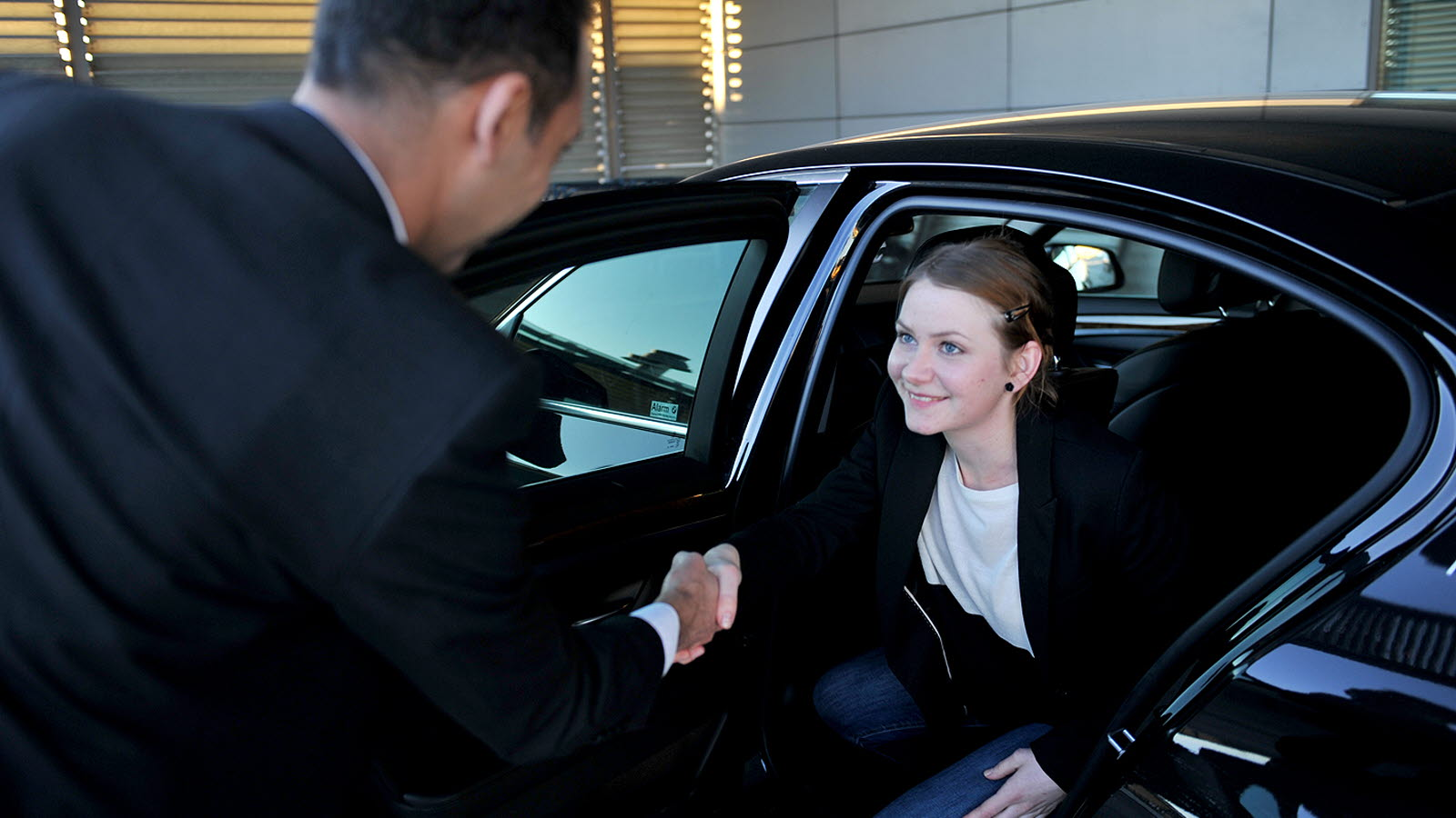 VIP Service woman in car