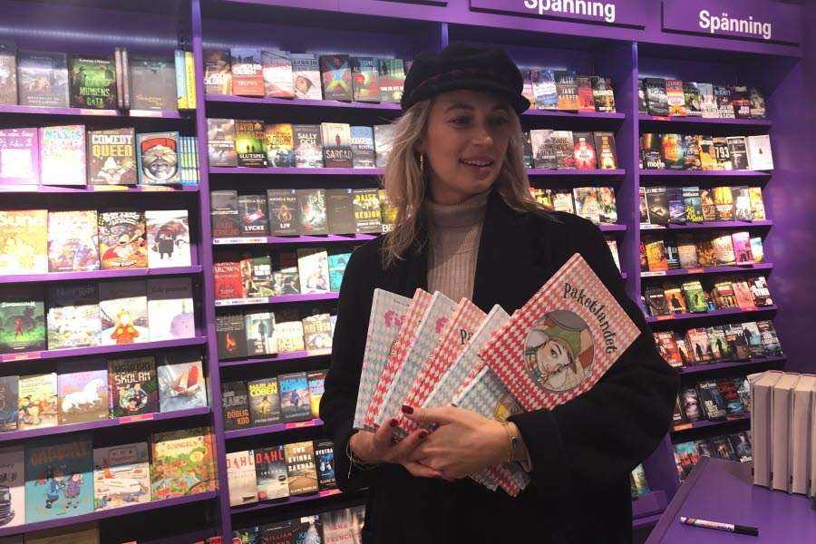 Cissi Forss and her books in Pocketshop.