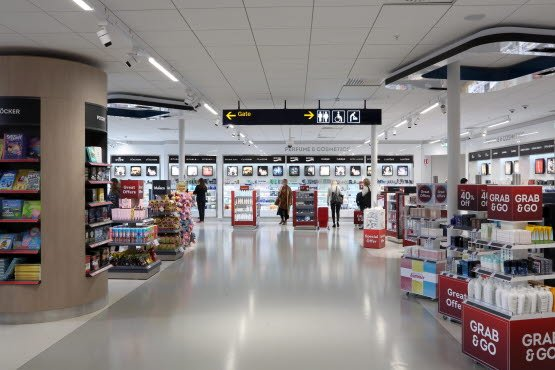 Shopping area in Bromma Stockholm Airport