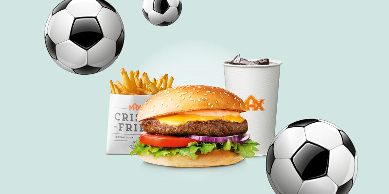Offers Max, food and beverages and fotballs