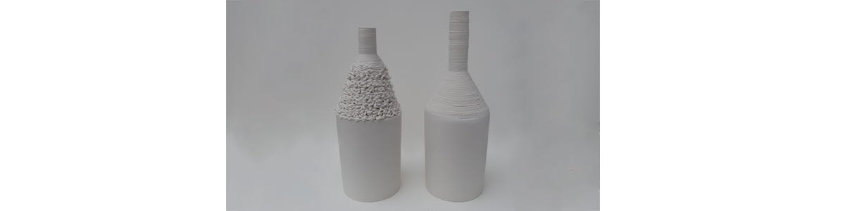 Vases, 3D-printed china