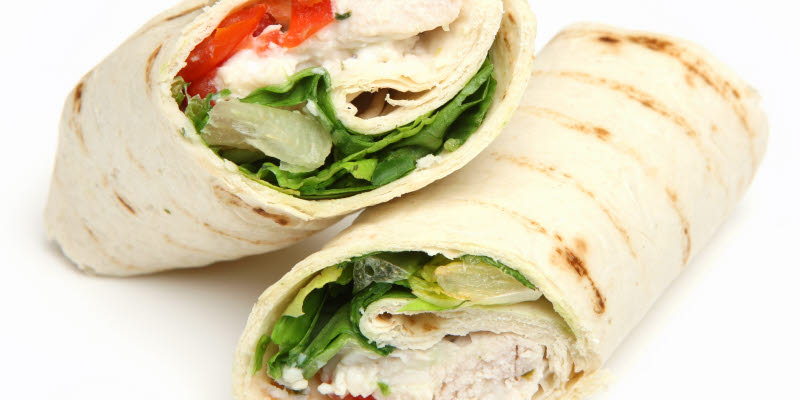 Two wraps with filling