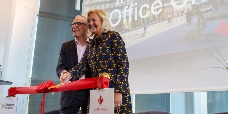 Karl Wistrand and Yvonne Sörensen Björud at the inqugeration of Office One