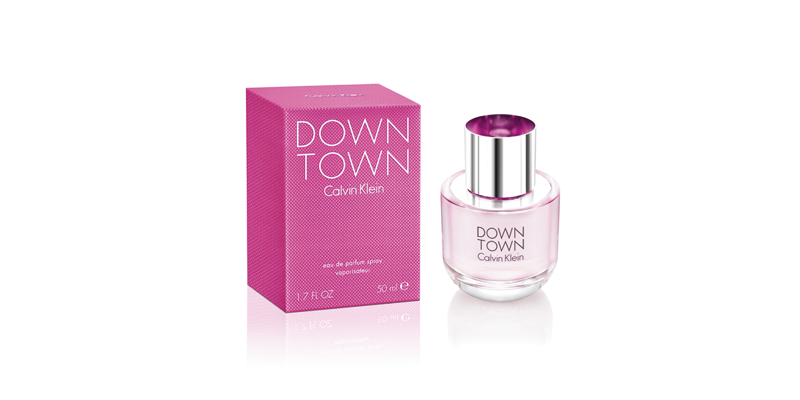 Clavin Klein perfume Down Town, bottle and package