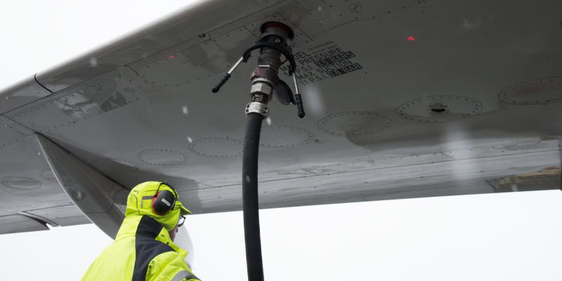 biofuel is fueled at Arlanda
