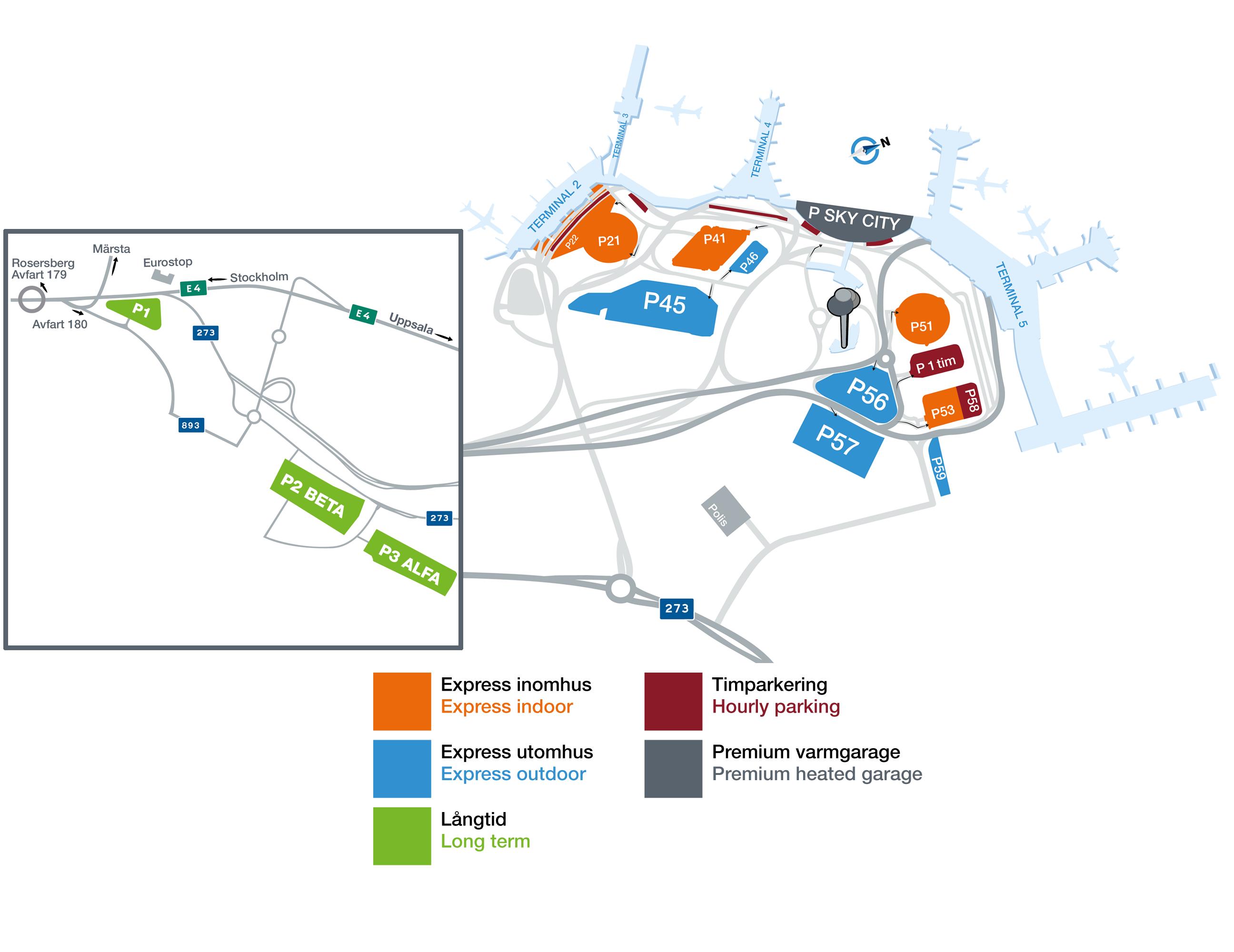 Karta Parkeringstaxa Stockholm.Parking Stockholm Arlanda Airport