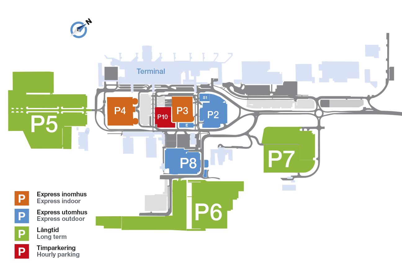 Karta Arlanda Inrikes.Parking Goteborg Landvetter Airport