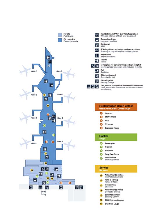 Karta Over Arlanda Flygplats.Finding Your Way At The Airport Malmo Airport