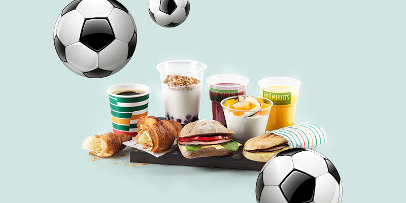 Offers 7Eleven, food and beverages and fotballs