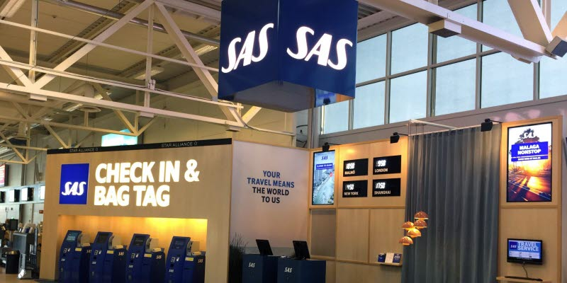 SAS check-in at Malmö Airport