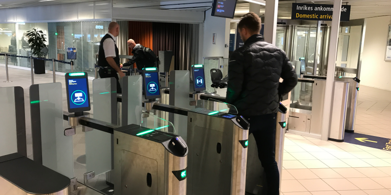 Smoother Access With Automated Entry Gates Malm 246 Airport