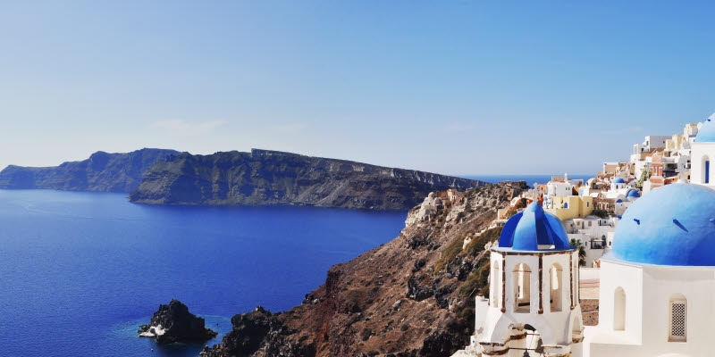 Greece, white houses and blue water